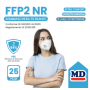SEMIMASCHERA FILTRANTE FFP2 NR 25 PEZZI